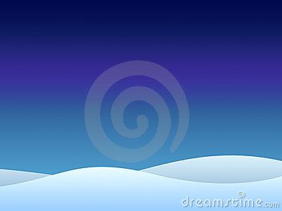 Snowscape Clip Art.