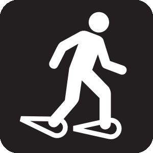 Snow Shoeing Black Clip Art at Clker.com.