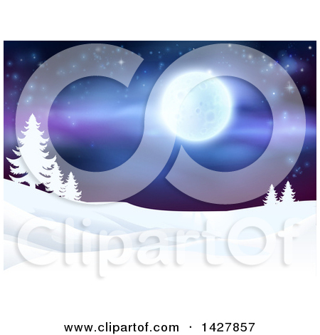 Clipart of a Christmas Background with a 3d Arch of Bauble.