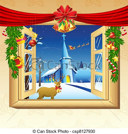 Vector Clipart of Christmas Decoration.