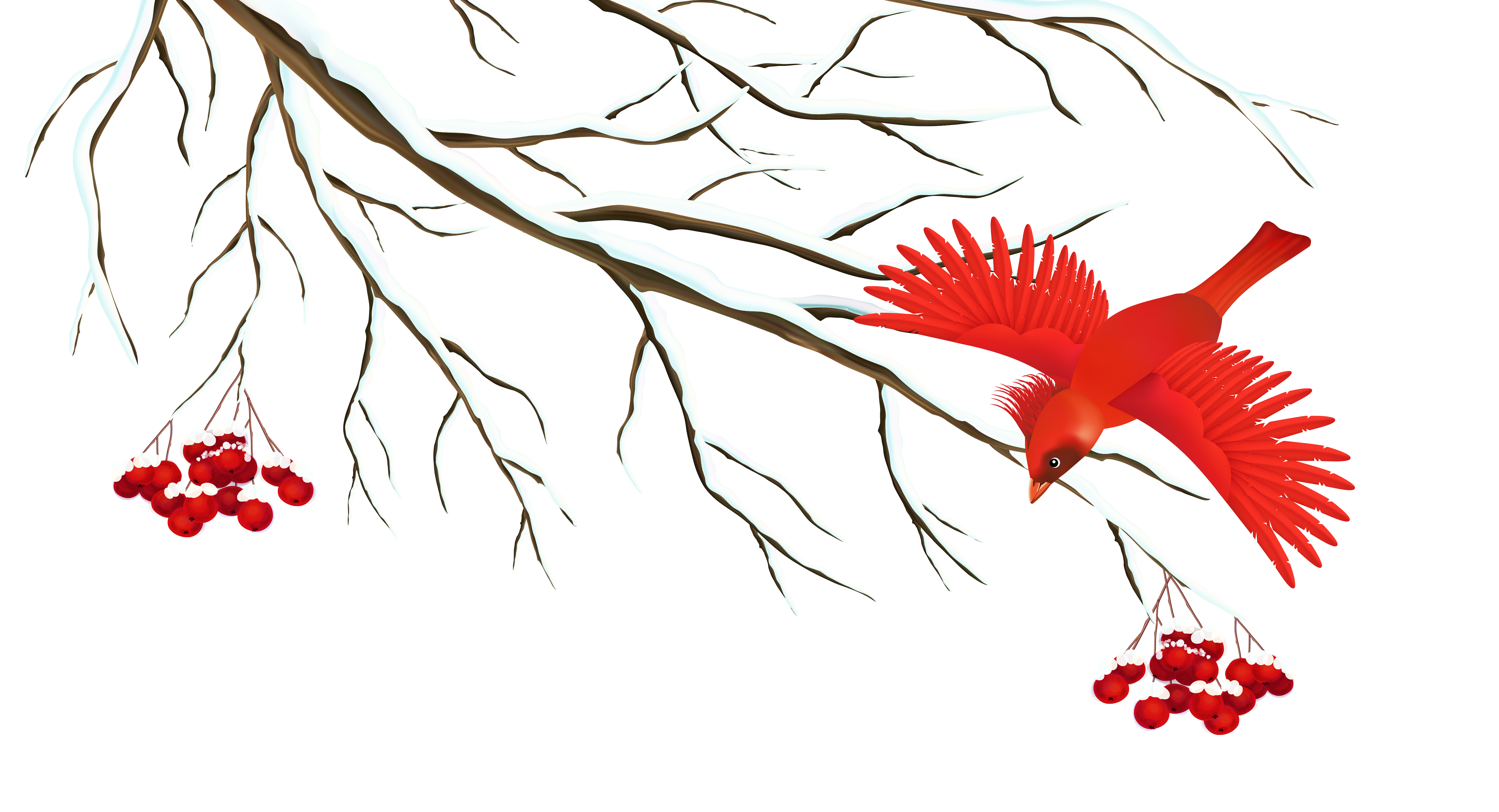 Snow Branch Clip Art.