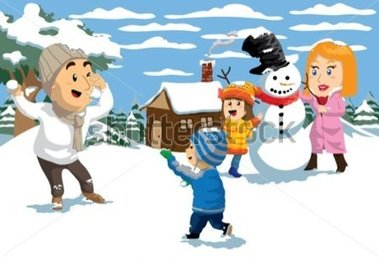 Snowy Day Clipart.