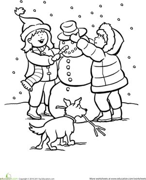 Snowy Day Clipart Black And White.