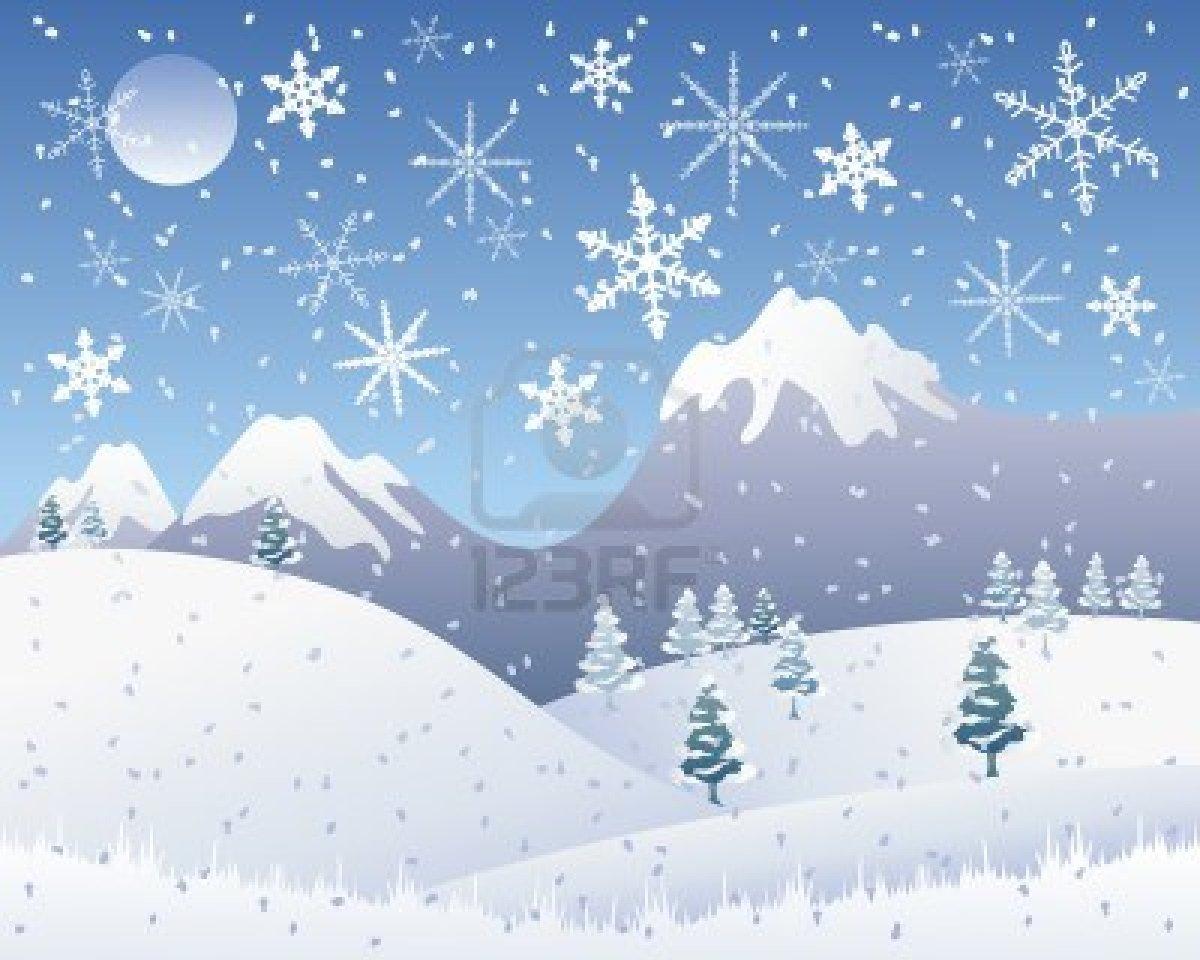 snowy mountain christmas clipart - Clipground