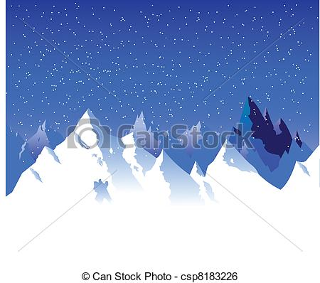 Snowy mountain Illustrations and Clipart. 2,169 Snowy mountain.