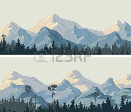3,324 Snowy Mountains Stock Vector Illustration And Royalty Free.