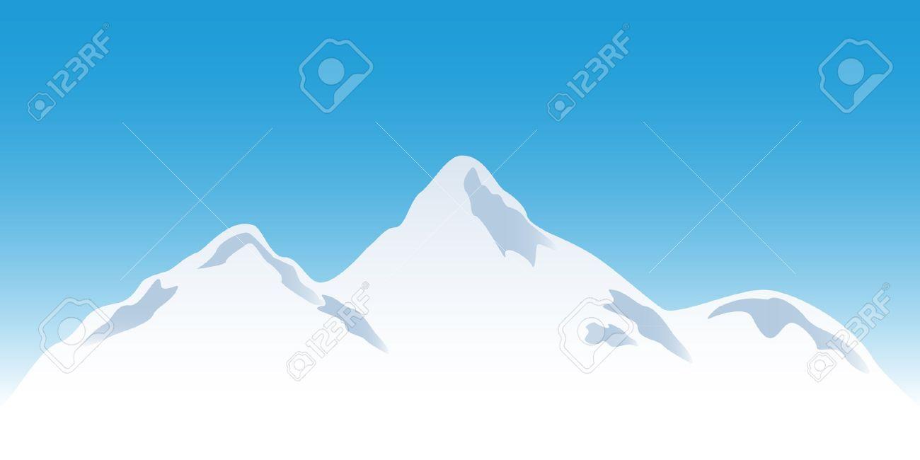 Snowy Peaks Clip Art.