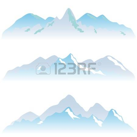 832 Snowy Peak Stock Vector Illustration And Royalty Free Snowy.