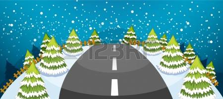 496 Snowy Road Stock Illustrations, Cliparts And Royalty Free.