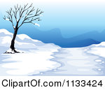 Snow road clipart.