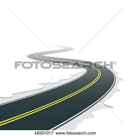 Clip Art of Winding road k6501017.