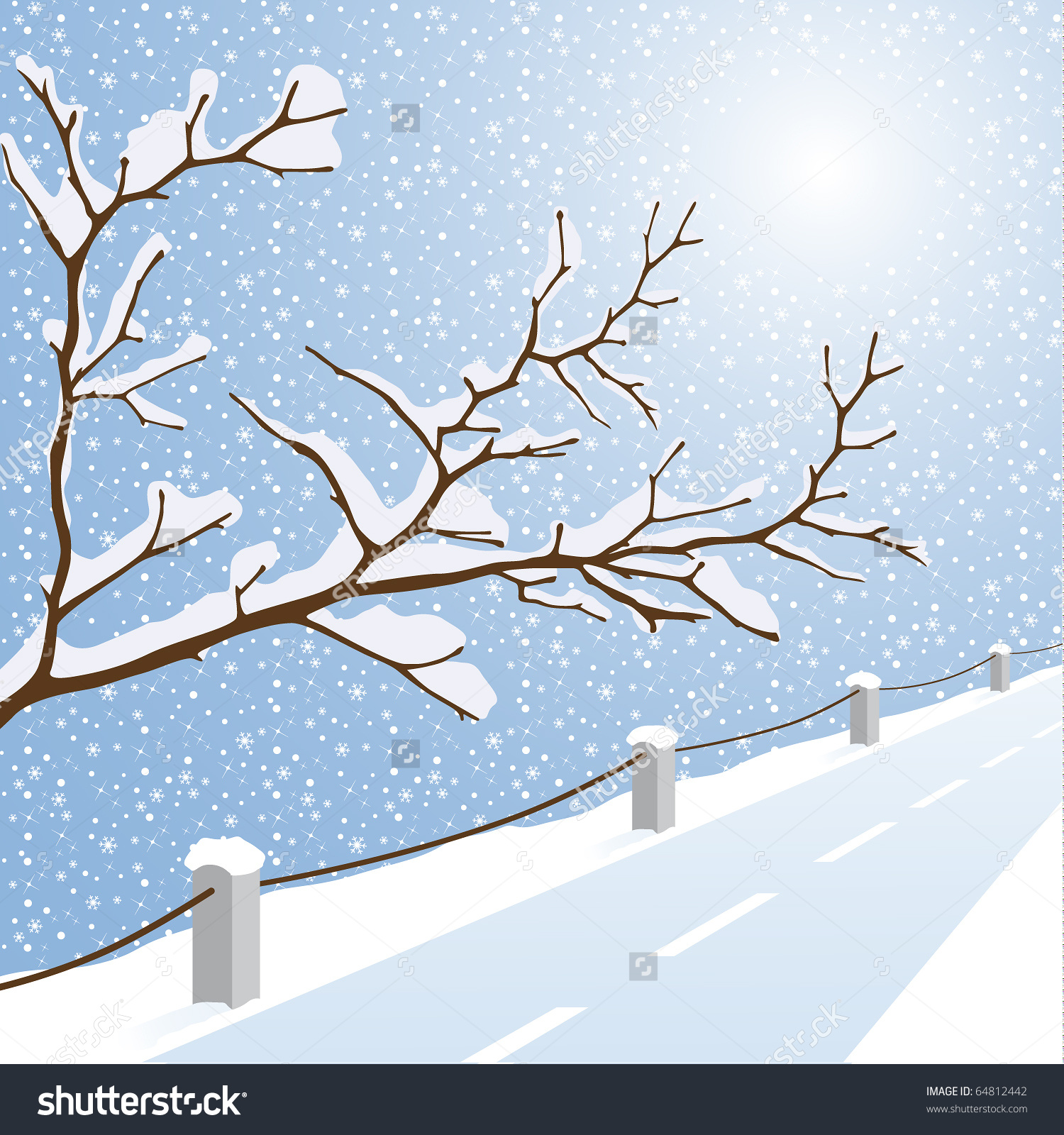 snowy road clipart clipground
