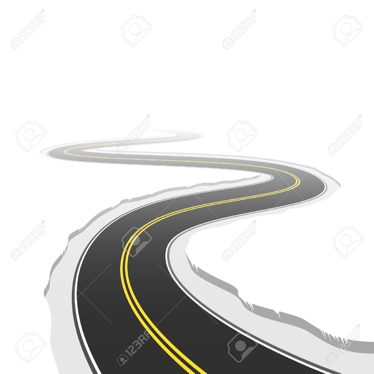 Winding Road Royalty Free Cliparts, Vectors, And Stock.