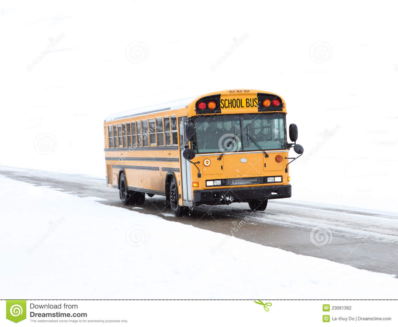 School Bus Snow Storm Stock Photos, Images, & Pictures.