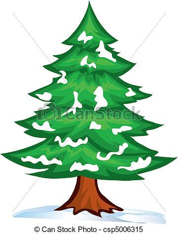Snowy Tree Clipart.