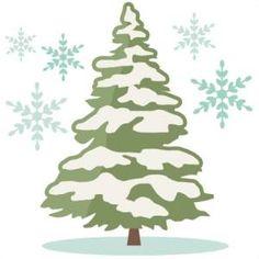 Snowy Tree Clip Art.