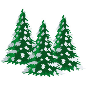 Christmas Tree With Snow Clipart.