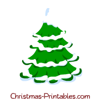 Christmas tree snow clipart.