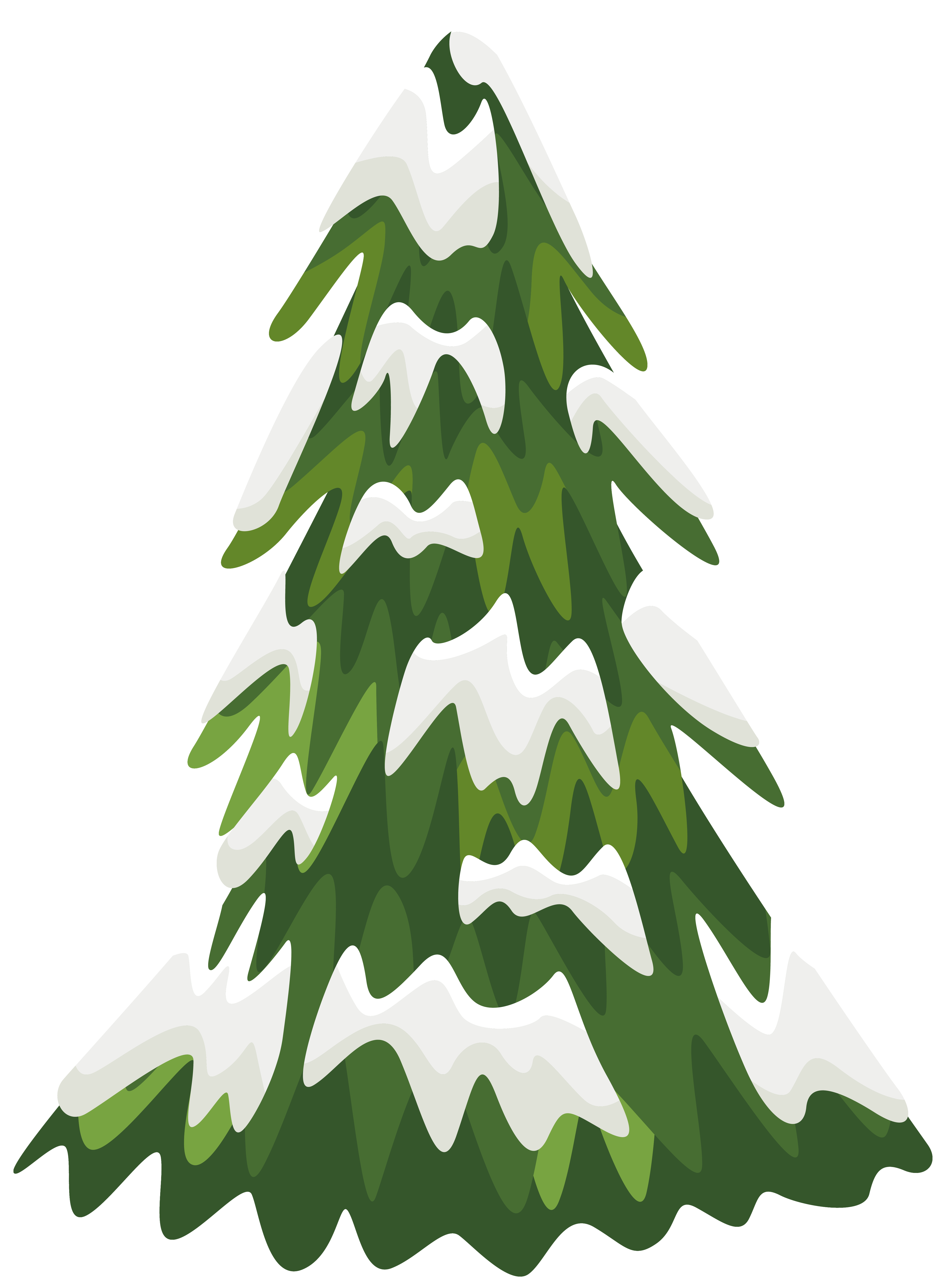Snowy tree tree clipart.