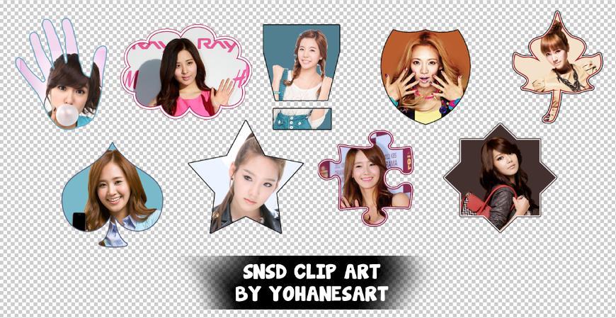 Snsd Clip Art by yohanesArt on DeviantArt.