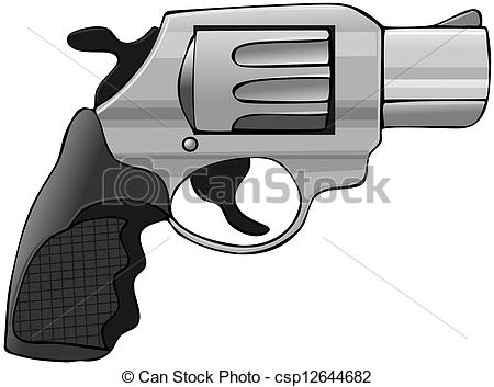 Stock Illustration of Snubnose pistol.