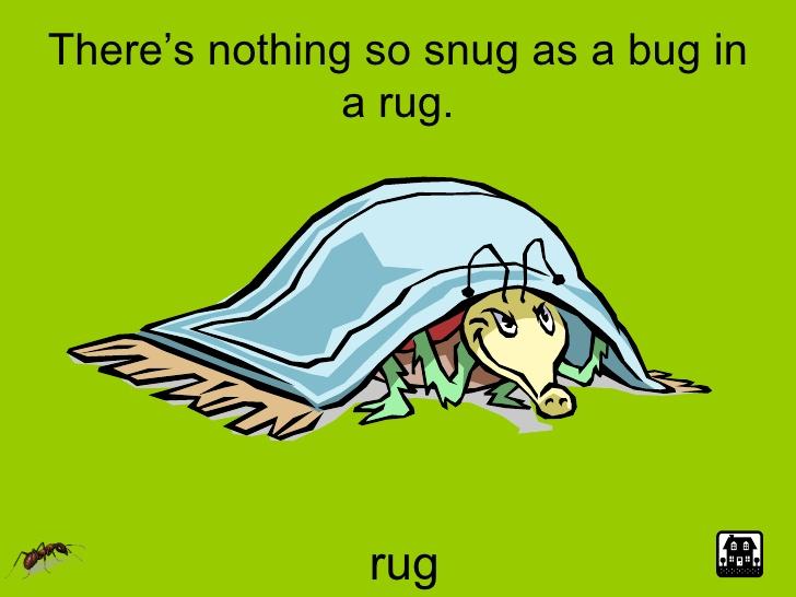 Clip Art Bug in a Rug.