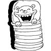 Image: Bear in a Sleeping bag.