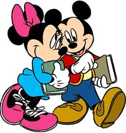 Cute Disney Cartoon Character back to school clipart: Disney's.