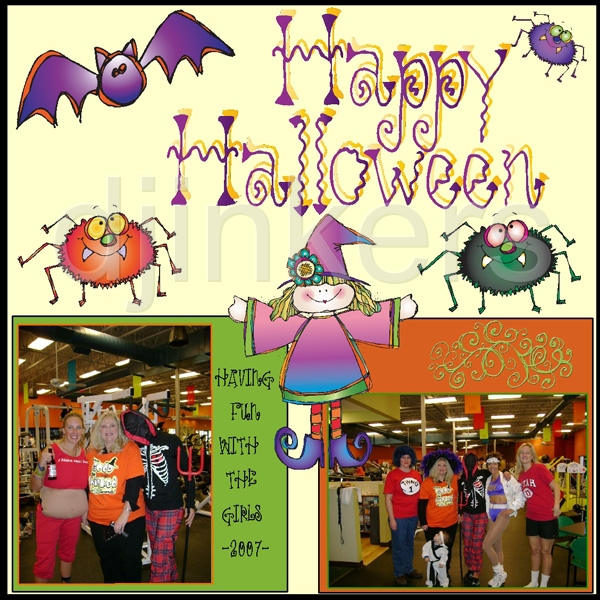 So cute it's 'SPOOKY'!! Made with 'Witches Brew' clipart download.
