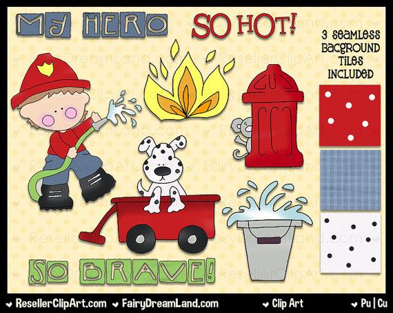 So Hot Firefighter Clip Art.