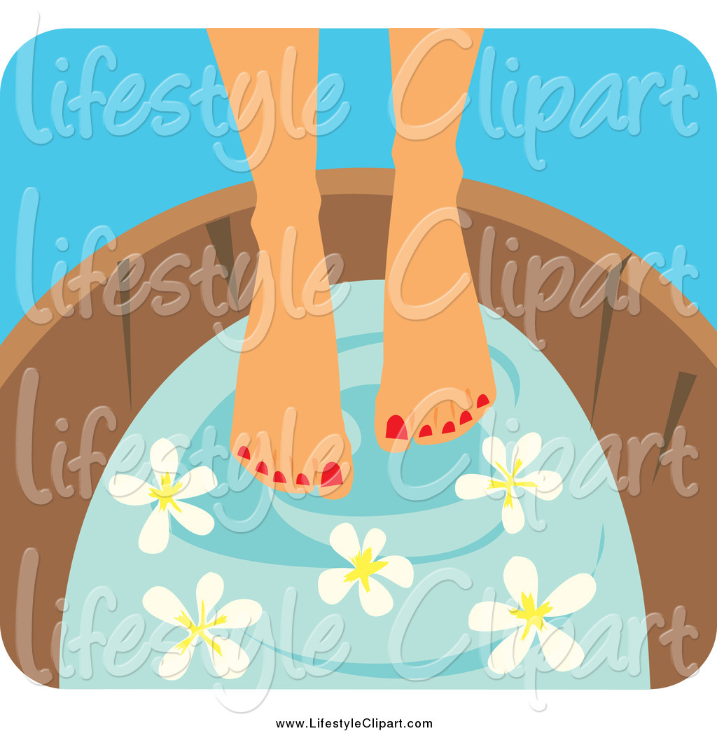 Soaking Feet Clipart.