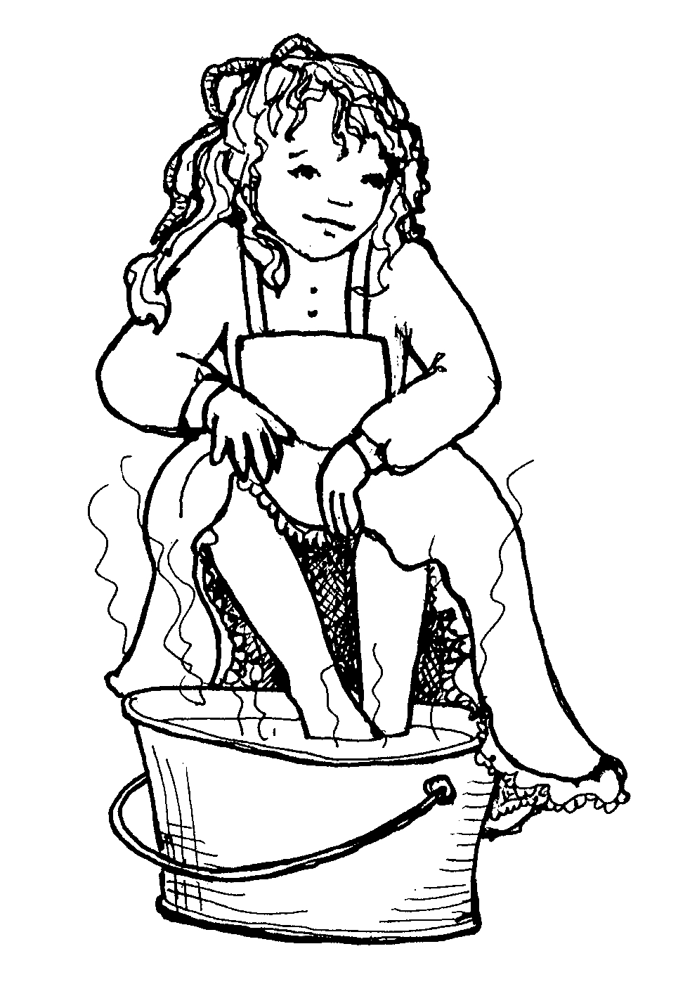 Mormon Share } Pioneer Girl Soaking Feet.