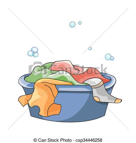 Clipart Vector of Basin For Clothes.