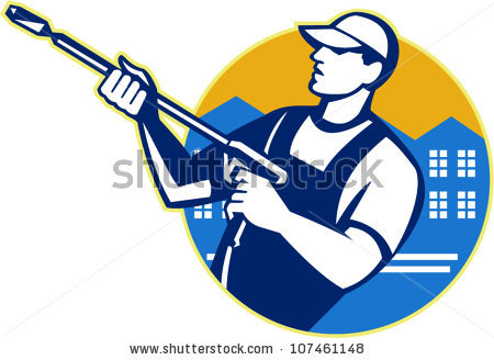 Pressure Washing House Stock Photos, Royalty.