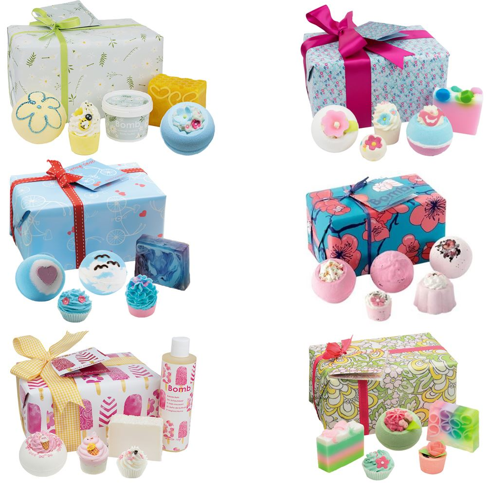 Bomb Cosmetics Wrapped Gift Pack Set Handmade Soap Bath Bomb.
