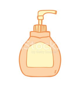 Liquid soap bottle Clipart Image.