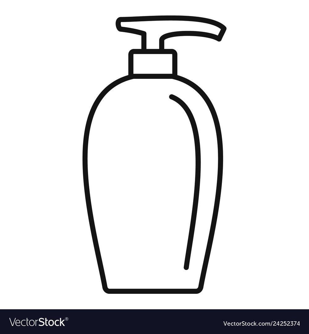 Soap dispenser icon outline style.