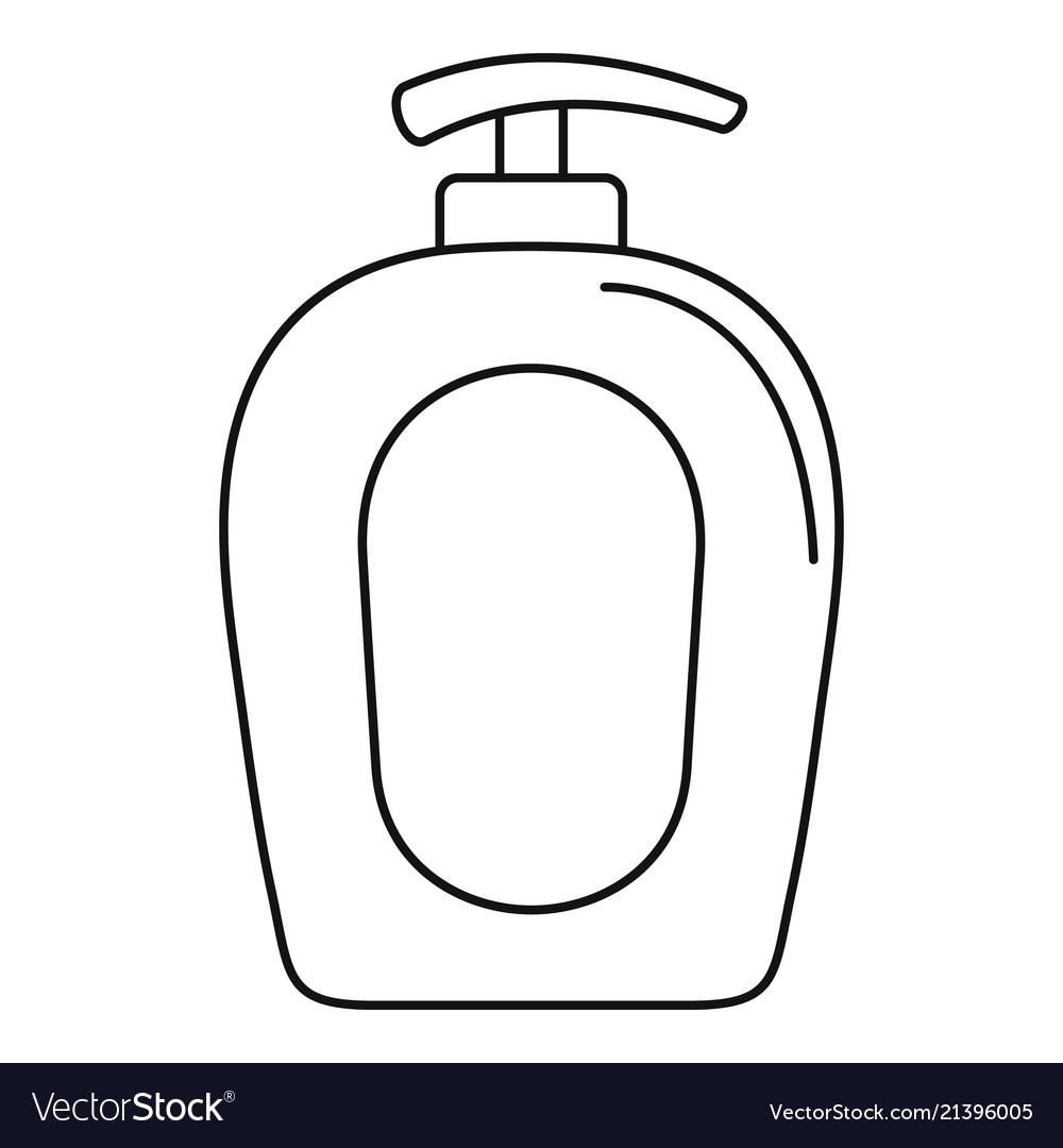 Soap gel dispenser icon outline style.
