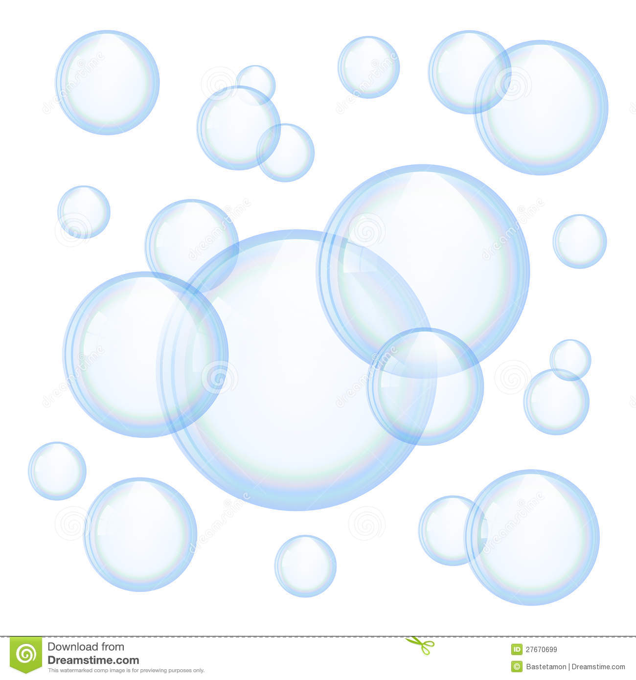 Soap Bubbles Clipart.