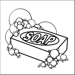 Clip Art: Soap B&W I abcteach.com.