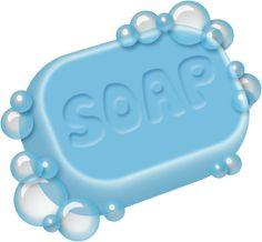 Bath soap clipart.