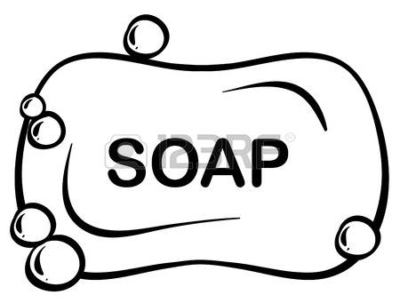 Black And White Clipart Of Soap.