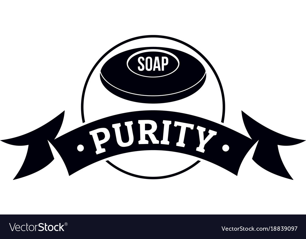 Soap purity logo simple black style.