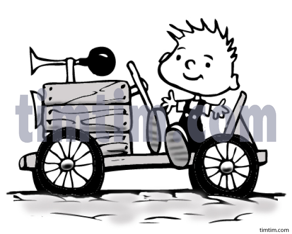 Free drawing of A Soapbox Racer from the category Cars Trucks.