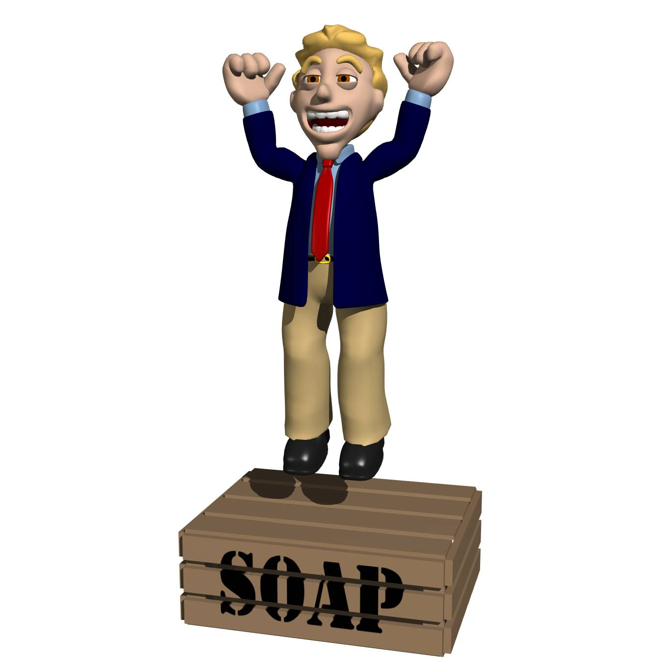 Soap box clipart.