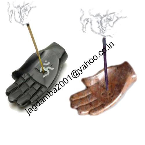 Soapstone Hand Incense Burner.