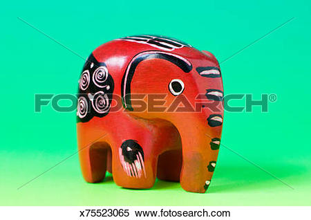 Stock Image of carved soapstone animals x75523065.