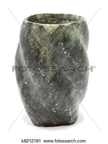 Stock Photography of Ancient soapstone vase k8212181.