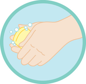 Hands Clipart Image Of Hands Washing With Soap.
