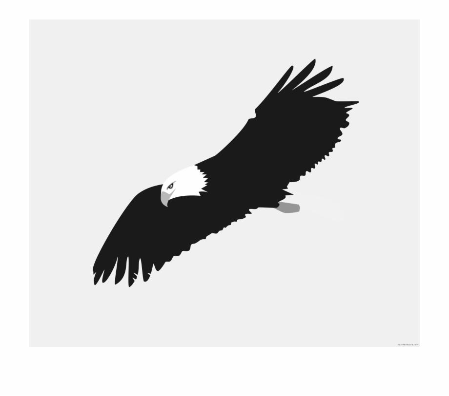 Soaring Eagle Animal Free Black White Clipart Images.